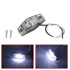 1PCS LED 12V White Side Marker Clearance Light Lamp Car Truck Trailer Caravan