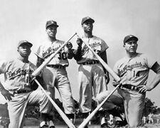 Brooklyn Dodgers JIM GILLIAM, MAURY WILLS, CHARLIE NEAL, GIL HODGES 8x10 Photo