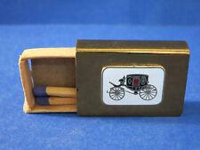 c.1940 Rare Vintage Matchbox ~BRASS~ Decorative ROYAL CARRIAGE Cloisonne Enamel