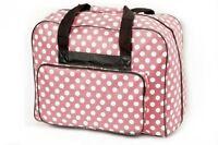 XL-Nähmaschinen-Tasche/Bag/Koffer:  B490 x H395 x T260 mm rosa m.Punkten  # 3389