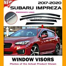 WINDOW VISORS for Subaru 17 18 19 20 Impreza DEFLECTOR RAIN GUARD VENT SHADE