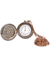 Steampunk Victorian 1920s Pocket Watch Medallion Fancy Dress Accessory New