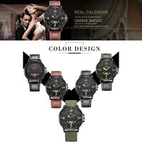 Fashion Men Watch Army Date Stainless Steel Quartz Analog Boy Sport Wrist Watch