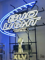 Bud Light NFL Super Bowl XLVI 46 2012 Neon Sign Indy Indianapolis NEW YORK GIANT