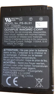 Genuine Battery for Olympus PS-BLS1 USED