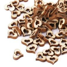 Blank Hollow Heart Wedding Decoration Embellishments Crafts DIY Wooden
