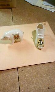 "china ornaments "" swansea pig & porthcawl slipper"""
