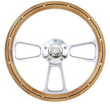 1932 & up Ford Truck w/GM Column Billet & Alderwood w/Rivets Steering Wheel Kit