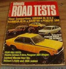 1974.WHEELS Road Tests No 27.Holden TORANA SL/R 5000.Ferrari BOXER.BETA.504.Saab