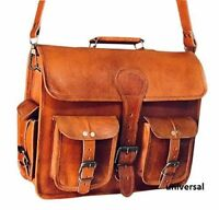 Men's Handmade Laptop Vintage Leather Messenger Briefcase Satchel Women Bag