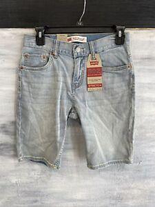 Big Boys LEVI'S 502 Taper Stretch Denim Shorts, 12 16 20 - Yosemite Falls