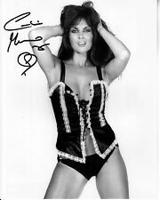 CAROLINE MUNRO hand-signed SEXY SULTRY YOUNG 8x10 uacc rd coa LINGERIE CLOSEUP