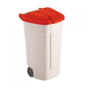 Rubbermaid 100L Mobile Container - Wheelie Bin - Red Lid
