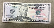 $50 Bill Star ⭐️ Not 2013 Low  serial number