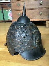 More details for unusual spiked military helmet badge to front , british army pickelhaube style