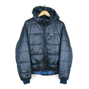 Dolce & Gabbana Gym Collection Mens Blue Hooded Puffer Jacket - Size 52