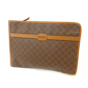 Bally Document case Brown Woman Authentic Used Y1984