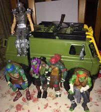Teenage Mutant Ninja Turtles 2014 Movie Turtle assault van w/ Figures TMNT RARE