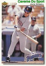 419 JACK HOWELL SAN DIEGO PADRES BASEBALL CARD UPPER DECK 1992