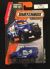 2015 Matchbox S.W.A.T. Truck Blue MBX Heroic Rescue