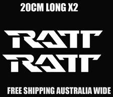 ratt decal stickers x2 rock metal car ute guitar