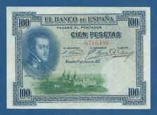 ESPAÑA // SPAIN -- 100 PESETAS ( 1925 ) -- aXF -- SIN SERIE -- SELLO -- PICK 69b