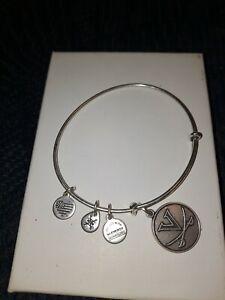 Alex And Ani VA UVA Virginia Cavaliers Silver Tone Bangle Bracelet