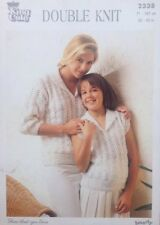VINTAGE Knitting Pattern-King Cole-MAGLIONE E TOP