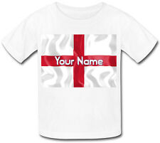 ENGLAND ST GEORGE'S FLAG PERSONALISED KIDS T-SHIRT - NAMED GIFT FOR A CHILD