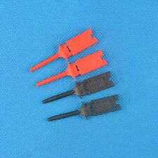 5 pair Colours Single Hook Clip Grabber Test Probe for SMD IC Multimeter 2k