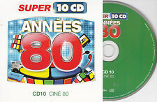 CD CARTONNE CARDSLEEVE ANNEES 80 CINE 80 15T SUBWAY/STAR WARS/ALIEN/RAMBO/ROCKY