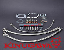 Kinugawa Turbo Oil & Water Line Kit Nissan RB25DET Skyline Stock T3 Top Mount
