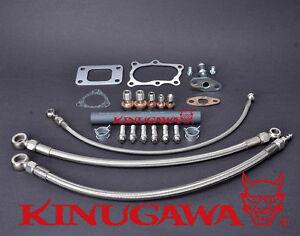 Turbo Oil & Water Line Kit (Full Kit) For Nissan RB25DET Skyline T3 Stock Mount