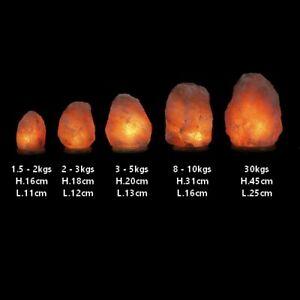 LAMPE EN CRISTAL DE SEL D'HIMALAYA - 1.5 À 30 KGS