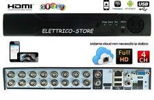 DVR 16 CANALI D1 960H HDMI CLOUD VIDEOSORVEGLIANZA IBRIDO VIDEOREGISTRATORE TVCC