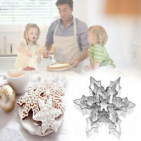 Fondant Cake Decor DIY Snowflake Biscuit Stainless Steel Cookie Cutter Mold