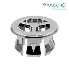 2er Set Waschbecken Überlaufblenden / Überlauf Design Abdeckung - Fan (chrom)