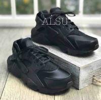 Sneakers Women's Nike Air Huarache Run Black Women's 634835 012 Leather Canvas