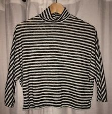 New Charlotte Russe Cropped Turtleneck Striped Sweater Size S