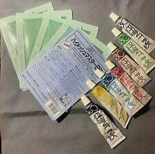 RISO Print Gocco Hi mesh Master sheet x4 plus bonus used ink