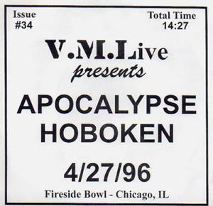 "Apocalypse Hoboken ""VML Live"" 7"" Alkaline Trio Slapstick RARE 1997"