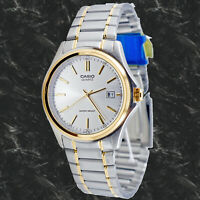 Casio MTP1183G-7AD Men's Analog Watch Gold Steel Band Date Display New Free Ship