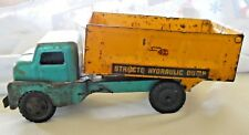 VINTAGE STRUCTO HYDRAULIC DUMP TRUCK EMERALD GREEN AND YELLOW
