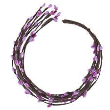 10pcs Artificial Flower DIY Garland Ribbon Flower Headband Craft Gift Wedding