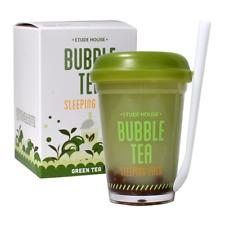 Etude House Bubble Tea Sleeping Pack #02 Green Tea -US SELLER -KOREAN COSMETIC