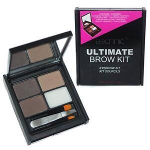 Technic Ultimate Brow Kit Eyebrow Make Up Set Powders Wax Tweezers & Brush