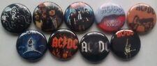 AC/DC  - 9 Button / Pins / Badge / 25mm - AC DC
