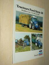Prospectus Tracteur FORD NEW HOLLAND S10 (4) Tractor Traktor Prospekt Brochure