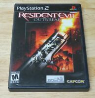 Resident Evil: Outbreak (Sony PlayStation 2, 2004) PS2 CIB Complete Tested