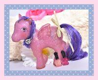 ❤️My Little Pony MLP G1 Vintage Twinkler SPARKLE Glitter Purple Pegasus Tinsel❤️